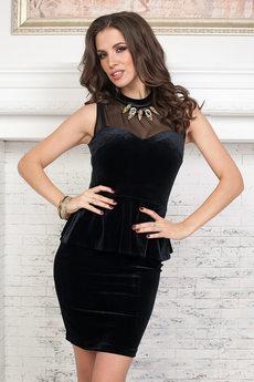 Черное бархатное платье Angela Ricci