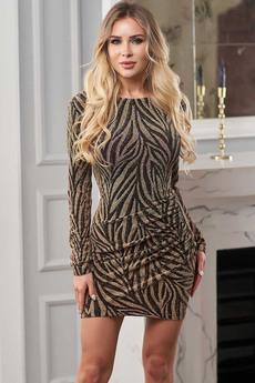Блестящее платье Look Russian