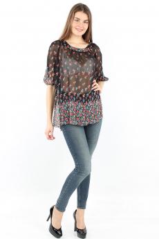 Новинка: прозрачная блуза с цветами Bast