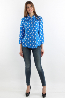 Новинка: синяя блузка в горох Bast